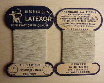 20 YARDS OR 2 CARDS OF THREAD LATEXOR QUALITY ELASTIC