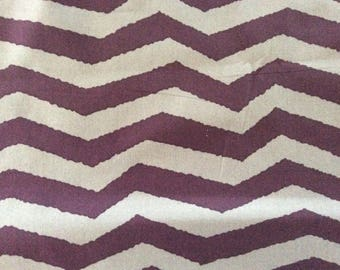 Fabric By The Yard  4 Yards Purple and Lavender Zig Zag Stripe  Utopia by Jean Spirit
