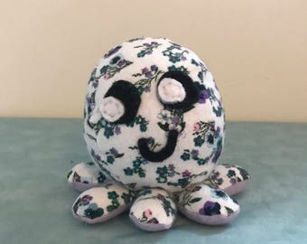 Floral Stuffed Mini Octopus Plush
