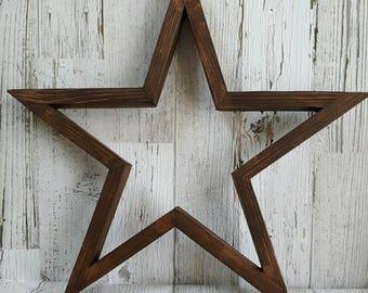 Wood star-rustic star-wood farmhouse wall decor primitive