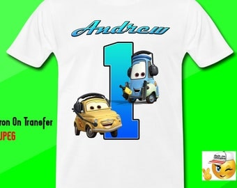 Cars Iron On Transfer, Cars Birthday Boy Shirt Iron On Transfer, Cars Party Birthday Iron On Transfer,Personalize, Digital File Only