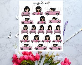 Chibi Elf - Car Drive Planner Stickers