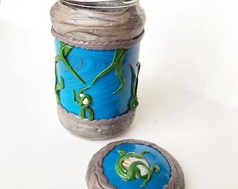 Sea Shell Polymer Clay Jar