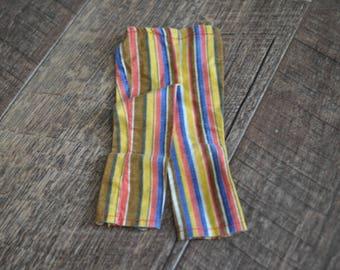 Vintage Barbie Clothes - Groovy Striped Pants