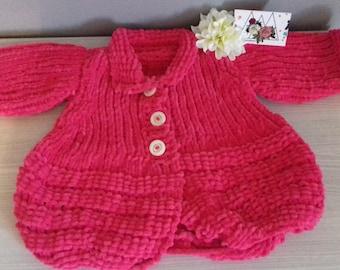 Coats girl hot pink 6 months