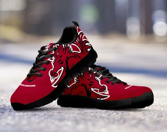 South Carolina Football Fan Custom Running Shoes/Sneakers/Trainers - Ladies + Mens Sizes