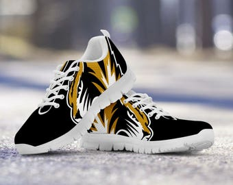 Missouri Tigers Football Fan Custom Running Shoes/Sneakers/Trainers - Ladies + Mens Sizes