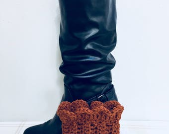 Pumpkin boot cuffs