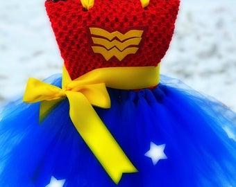 Adult Wonder Woman Tutu Dress