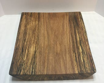 Oak Live Edge Cutting Board/Rustic Wedding Cake or Food Server/Reclaimed Wood