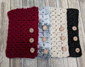 Made to Order - Hand Knitted/Chunky Knit, Multiway Crochet Cowl, Winter Accessories/Color of your choice/All Sizes
