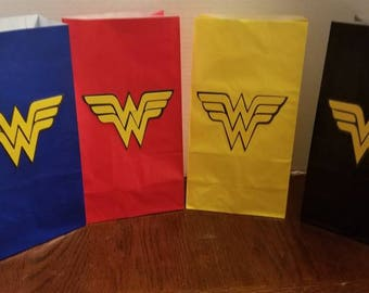 Wonder woman 12pc goodie bags **Free Shipping**