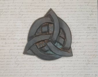 Celtic knot, Trinity knot, Triquetra, Viking wall art, Valhalla, ceramic, clay carving, Irish, Scottish,  unique gift, Odin, Norse, Thor