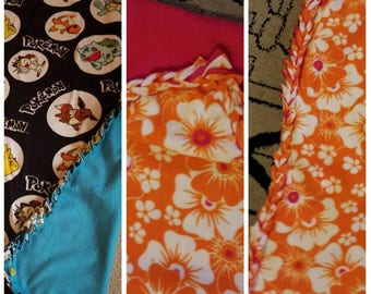 Custom made fleece blanket