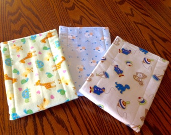 Baby Burp Pads Set of 3