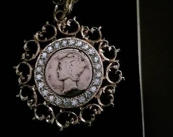 1926 Mercury dime necklace