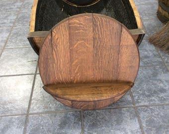 Whiskey or Wine Barrel Shelf