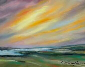 Landscape Original Pastel Painting