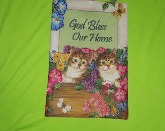 """Jeweled Banner """"God Bless Our Home""""  by Design Works ~ COMPLETED ~"""