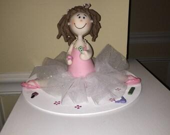 Balllerina GIRL cake Topper or Room Decor