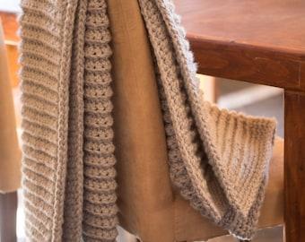 Mile A Minute Chunky Crochet Blanket Pattern