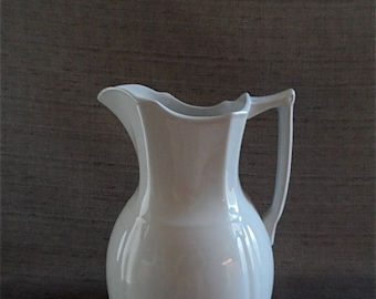 "Alfred Meakin Royal Ironstone Pitcher, England. 12"", late 1800's"