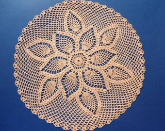 handmade crochet doily, flower doily, round doily 14 inches