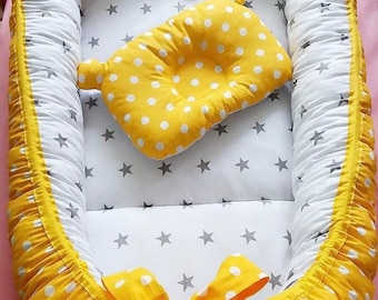 Sleep bed Double-sided Baby Nest for newborn babynest, cot, snuggle nest, pod, baby nest pattern, sleep nest, co sleeper