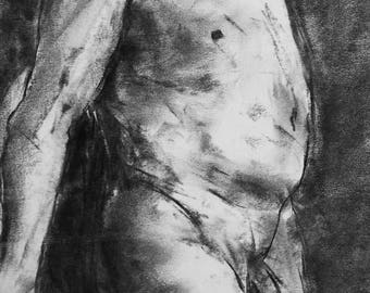 original charcoal drawing 1641