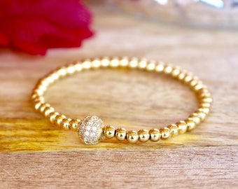 Gold plated skinnies with paved silver rhinestone