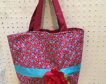 Roses & Teal Purse/Tote