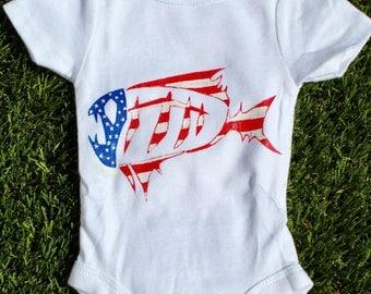 "American Baby Onesie - ""American Biscuits"" design"