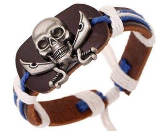 Punk Skull Mens Bracelet
