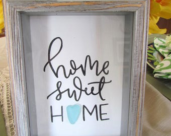 Home Sweet Home Seaglass Art Print