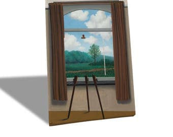 Yellow BUS-Quadro-Canvas print canvas-Rene Magritte-the human condition