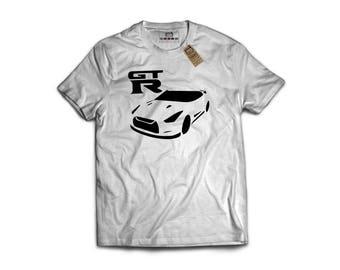GTR R35 - Porsche, Sports Car T-Shirt, Classic Sports Car, Gift For Car Lover, Garage Art, Honda, Nissan, Toyota, VW, Audi, Mazda, BMW