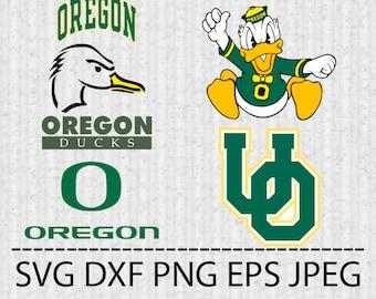 SVG Oregon Ducks Logo Vector Layered Cut File Silhouette Cameo Cricut Design Template Stencil Vinyl Decal Tshirt Transfer Iron on