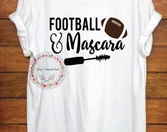 Football & Mascara Womens Tshirt