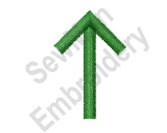Up Arrow - Machine Embroidery Design