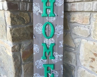 Rose Panel Home Porch Sign