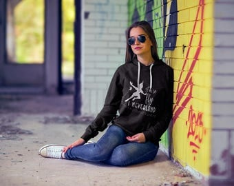 """Disney Peter Pan Themed Sweatshirts / """"So Fly, I Neverland""""/ Womens Pullover Hoodie / Peter Pan Quotes / Peter Pan Characters"""