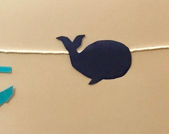 Whale and Anchor Nautical Banner