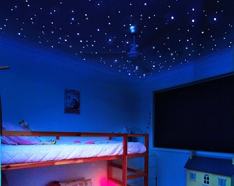 Tiny But Bright Glow in the Dark Stars Ceiling Decals for Galaxy Wall Decor, Stars for Ceiling, Realistic Stars, Glowing Star Stickers