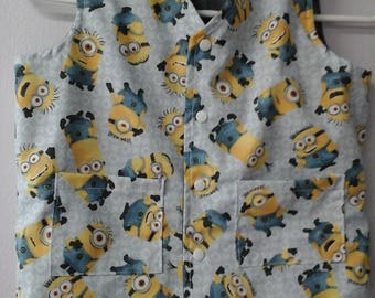 CLEARANCE! Size S Weighted Vest for Child w/Special Needs and Sensory Issues. Minions Print.