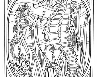Coloring Book Underwater World A4 Print And Paint DIY