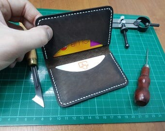 Mini cardholder, Mini card holder, Small Cardholder, Leather cardholder, Minimalist cardholder, Simple Cardholder, Slim cardholder