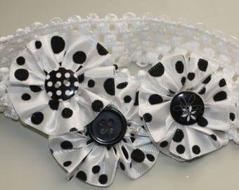 Headband, infant, girl, toddler headband three flowers