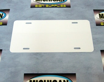 Thin White Aluminum License Plate Blank