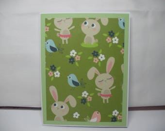 Spring/Easter Rabbit Handmade Note Cards