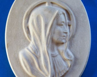 Madonna | Virgin Mary | Mother of God | Wall Relief | Relief | Plaster · Decoration